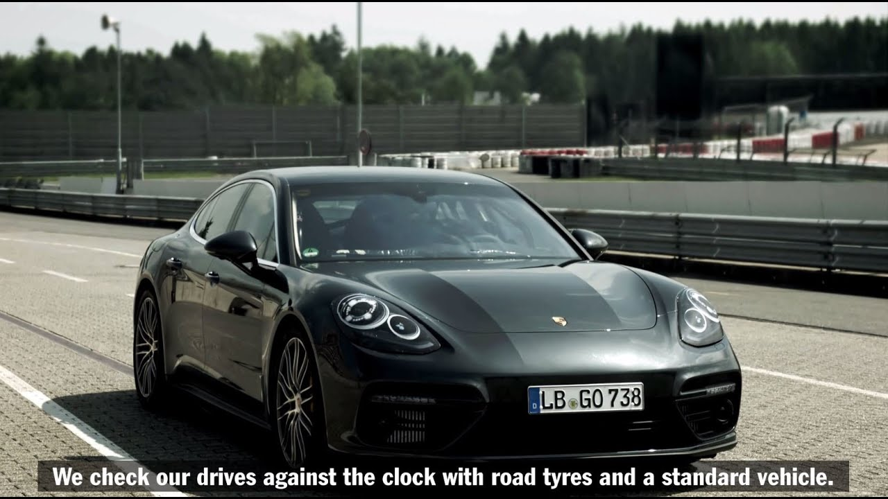 The new Porsche Panamera Turbo at the Nürburgring.