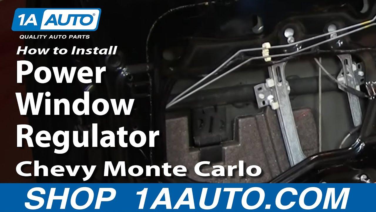 How To Install Repair Power Window Regulator Chevy Monte
