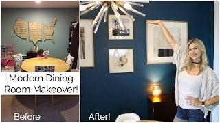 My Modern Dining Room Makeover