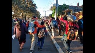 El periplo de miles de migrantes hondureños hacia EEUU