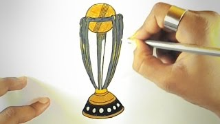 how to draw world cup trophy