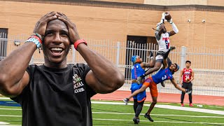 THE MOST DISRESPECTFUL CATCH I'VE EVER SEEN IN A 7ON7! (D1 COMMIT GOES OFF)