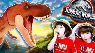 Juguetes JURASSIC WORLD 2 Fallen Kingdom Dinosaurio T-REX - METRIACANTHOSAURUS - JEEP 🎁 UNBOXING