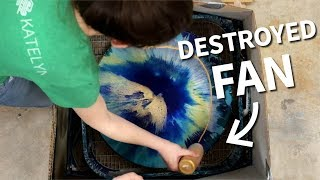 Can You Spin Art Resin & Acrylic Pours?