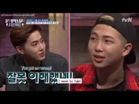 Exo Suho disses BTS Rapmonster (funny)