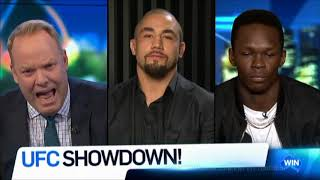 Robert Whittaker & Israel Adesanya LIVE UFC 243 Australian Tv  Interview Aug. 16, 2019
