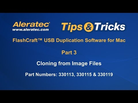 How To Clone Image Files using USB Duplication Software for Mac - Aleratec Tips & Tricks Part 3