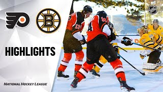 Flyers @ Bruins 2/21/21 | NHL Highlights