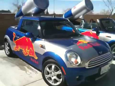 Red Bull Mini Cooper Convertible & Hardtop at A2ZFX