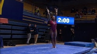 Stanford women's gymnastics star Kyla Bryant shows off jaw-dropping routines ahead of matchup...