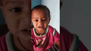 Little cute baby boy of 14 months expression while he is first eating usirikaya