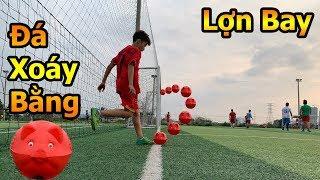 Thử Thách Bóng Đá Quang Hải Nhí trổ tài sút xoáy ghi bàn từ góc như Ronaldo bằng heo đất tết 2019