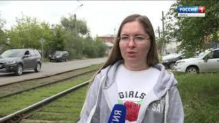 Жители Омска боятся обрушения трамвайных электросетей