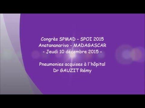 Pneumonies acquises à l'hôpital Dr GAUZIT Rémy