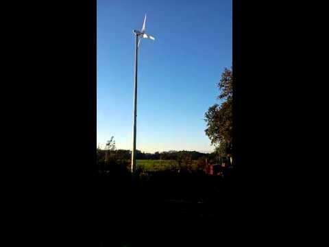 Anelion Small Wind Turbine SW3.5-GT3 over monopole tower