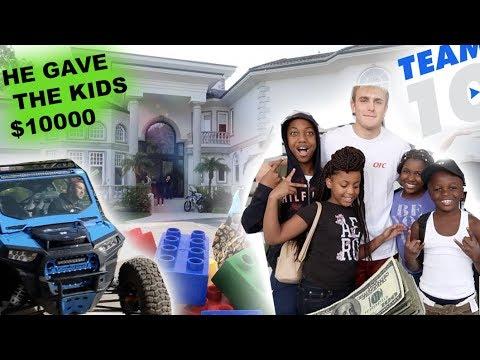 TOOK THE KID'S TO JAKE PAUL'S HOUSE!! ($10,000 PRANK ON KIDS)