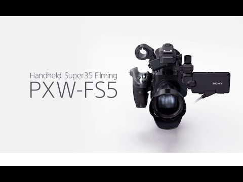 Sony PXW-FS5K Handheld Super 35 Camcorder with APS-C E-Mount 18-105mm Zoom Lens