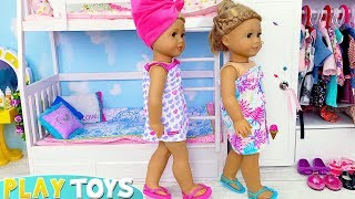 Baby Doll Morning Routine in Bedroom Bunk Beds!