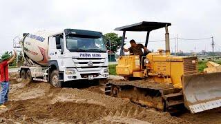 Giải cứu xe bê tông sa lầy cực kỳ gay cấn chỉ có ở Việt Nam_ Nhạc thiếu nhi sôi động