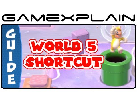 Shortcut To World 5 - Super Mario 3D World's Secret Exit In World 4-2 Guide & Walkthrough - Smashpipe Games Video