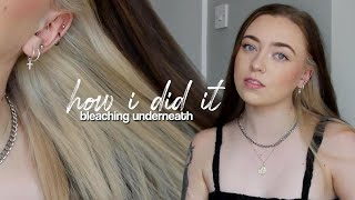 Bleaching the Underlayer of my Hair (successfully!)