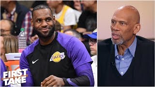 Kareem Abdul-Jabbar high on LeBron James' arrival, Lakers' expectations | First Take