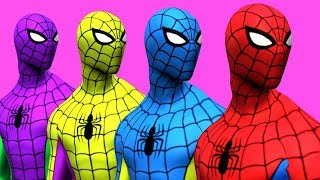 Colors for Children to Learn with Spiderman Surprise Toys Animals Learn Colours for Kids