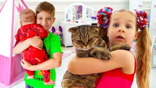 Roma and Diana - stories about baby brother Oliver