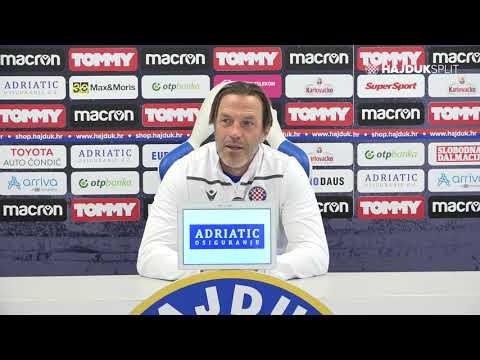 Trener Paolo Tramezzani uoči Slaven Belupo - Hajduk