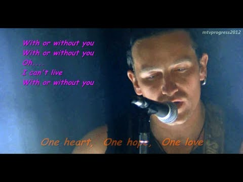 U2 - With Or Without You ( live 1987 )[ lyrics ]