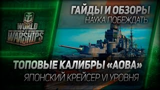 Гайды и обзоры #15: Топовые калибры Aoba. Японский крейсер VI уровня в ЗБТ