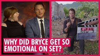 Chris Pratt & Bryce Dallas Howard on Dinosaurs - Jurassic World Interview
