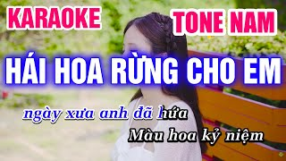 Karaoke Hái Hoa Rừng Cho Em Tone Nam - Nhạc Sống Rumba | Mai Thảo Organ