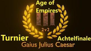 Age of Empires III 2vs2 Turnier Achtelfinale Spiel 1 // T. Rondom vs. T. Falkenmut [Deutsch/HD]