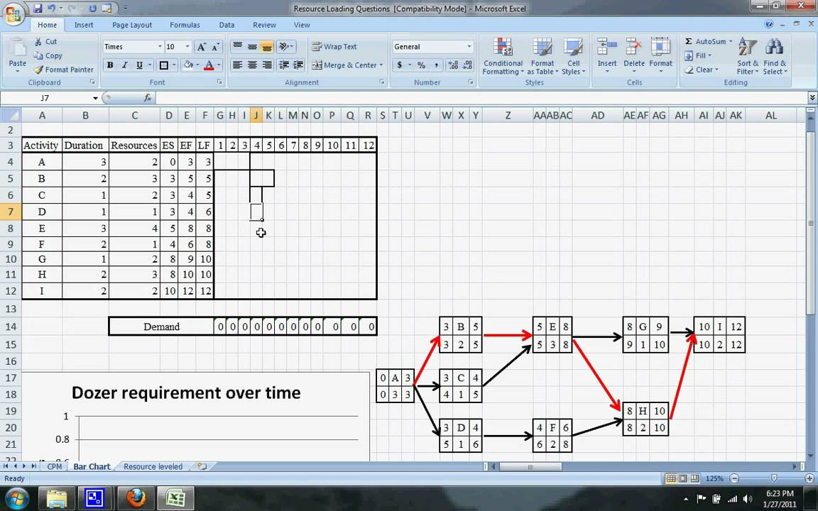 critical path method scheduling example 1 youtube. Black Bedroom Furniture Sets. Home Design Ideas