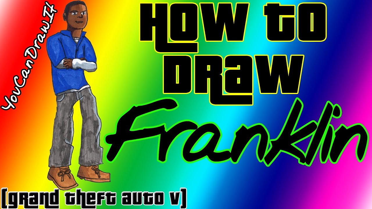How To Draw Franklin from GTA V YouCanDrawIt ツ 1080p HD ...