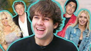 David Dobrik Spills the Tea on Vlog Squad Gossip