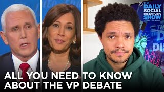 Pence's Fly and Harris's Expressions Steal The Debate | The Daily Social Distancing Show