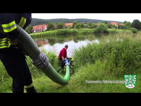 Übung Hochwasserpumpe 17.06.2015 - FF Reinhardshagen