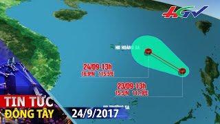 Áp thấp nhiệt đới mạnh cấp 8 tiến vào đất liền | TIN TỨC ĐÔNG TÂY - 24/9/2017
