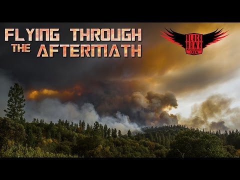 Devistating Aftermath of California Fire Seen By BlackHawk Paramotor Pilots