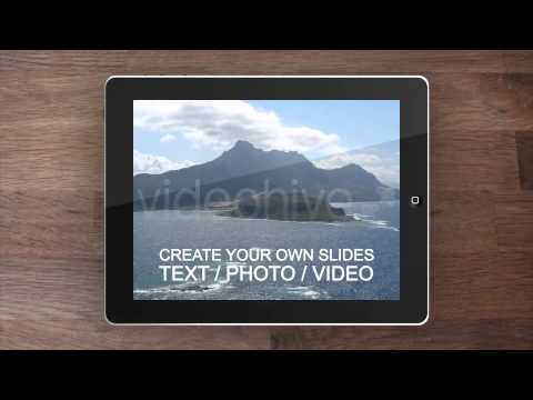 After Effects Template : Ipad Desktop Presentation