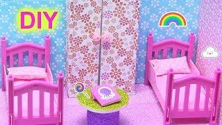 Hướng Dẫn Làm Phòng Ngủ mini 2 giường-  Tủ - Bàn - SLIME HOA GIẤY - Xem Hình Chị Bí {đồ chơi trẻ}