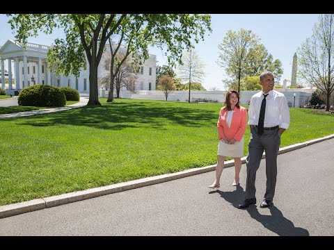 Raw Video: A Walk with the Teacher of the Year