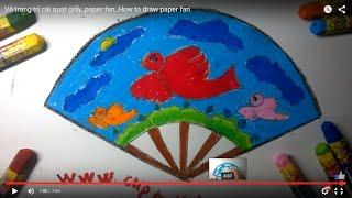 Vẽ trang trí cái quạt giấy_paper fan_How to draw paper fan