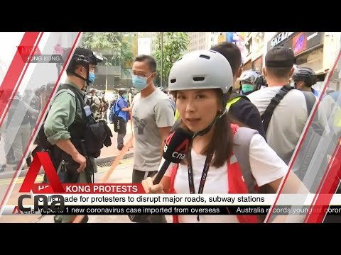 Hong Kong police arrest protesters in Causeway Bay
