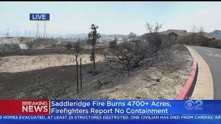 Saddleridge Fire Ravages Homes, Neighborhoods In Sylmar
