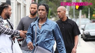 ASAP Rocky Smokes With Fans While Shopping On Melrose Avenue 7.24.17 - TheHollywoodFix.com