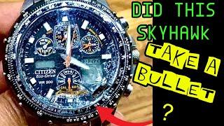 Restoration citizen skyhawk eco drive tutorial error message repair guide bezel removal glass change