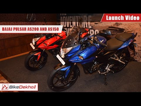 Checkout 2015 Bajaj Pulsar AS150 and AS200 Launch video | BikeDekho.com